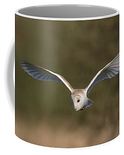 Barn Owl Quartering Coffee Mug