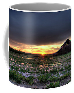Barn Sunrise Coffee Mug