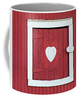 Barn Window With Heart Coffee Mug