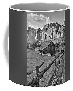 Barn With Mountains Coffee Mug by Debbie Green