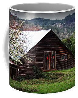 Barn With Red Bows Coffee Mug