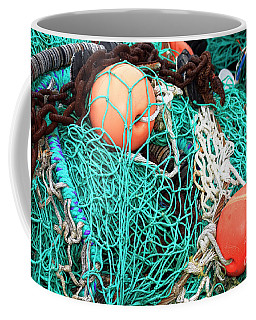 Coffee Mug featuring the photograph Barnegat Fishing Nets by John Rizzuto