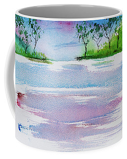 Gum Trees Frame The Sunset At Barnes Bay Coffee Mug