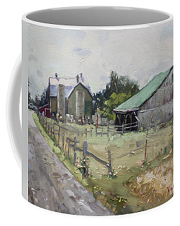 Barns And Old Shack In Norval Coffee Mug
