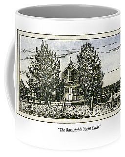 Coffee Mug featuring the mixed media Barnstable Yacht Club Greeting Card by Charles Harden