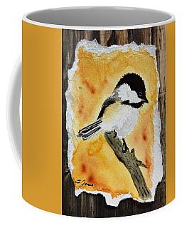 Barnwood Chickadee Coffee Mug
