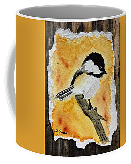 Barnwood Chickadee Coffee Mug