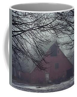 Barnyard Blanketed By Fog Coffee Mug by Kathy M Krause