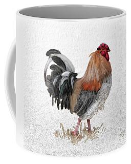 Coffee Mug featuring the digital art Barnyard Boss by Lois Bryan