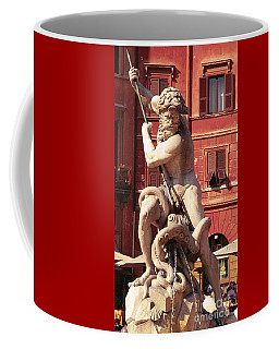 Baroque Sculpture Of Neptune Fountain In Piazza Navone, Rome, Italy Coffee Mug