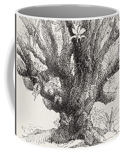 Coffee Mug featuring the drawing Barringtonia Tree by Judith Kunzle