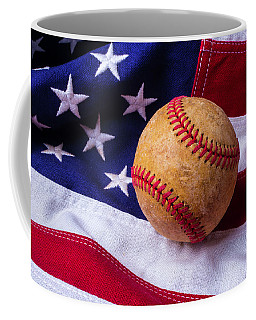Baseball And American Flag Coffee Mug