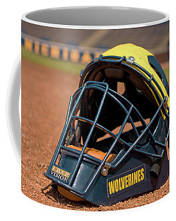 Baseball Catcher Helmet Coffee Mug