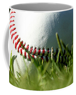 Baseball In Grass Coffee Mug