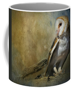 Bashful Barn Owl Coffee Mug