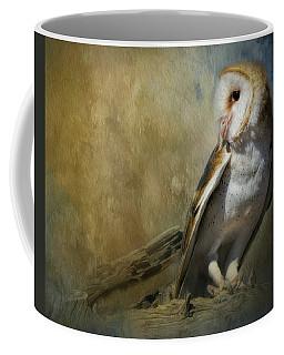 Bashful Barn Owl Coffee Mug