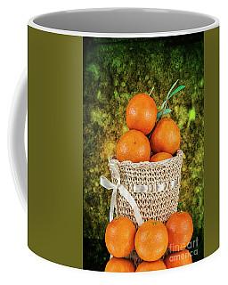Basket Full Of Oranges Coffee Mug