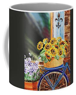Basket Full Of Sunflowers Coffee Mug