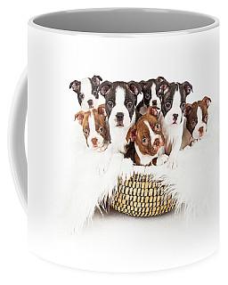 Basket Of Boston Terrier Puppies Coffee Mug