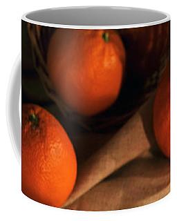Basket Of Fresh Tangerines Coffee Mug by Jaroslaw Blaminsky