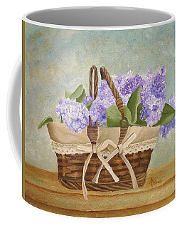 Basket Of Lilacs Coffee Mug