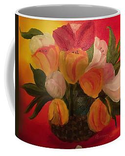 Basket Of Tulips Coffee Mug