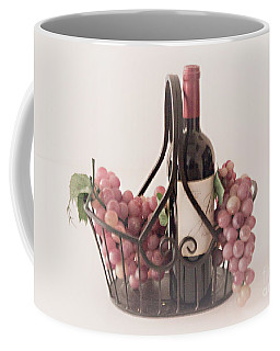 Basket Of Wine And Grapes Coffee Mug