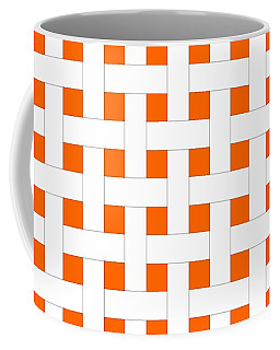 Coffee Mug featuring the digital art Basket Weave With Your Custom Colors by Mark E Tisdale