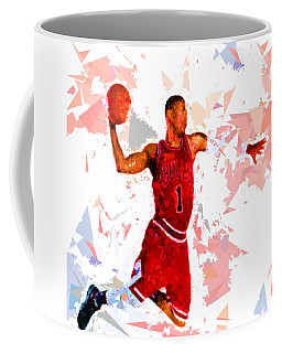 Coffee Mug featuring the painting Basketball 1 by Movie Poster Prints