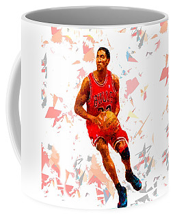 Coffee Mug featuring the painting Basketball 33 by Movie Poster Prints