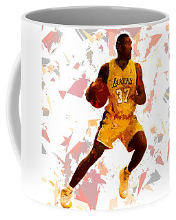 Coffee Mug featuring the painting Basketball 37 by Movie Poster Prints