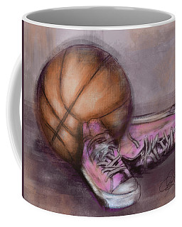Basketball And Pink Shoes Coffee Mug by Dani Abbott