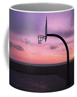 Basketball Court At Sunset Coffee Mug