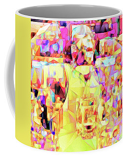 Coffee Mug featuring the photograph Basketball Power Flex In Abstract Cubism 20170328sq by Wingsdomain Art and Photography