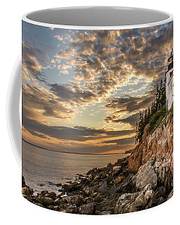 Bass Harbor Head Lighthouse Sunset Coffee Mug
