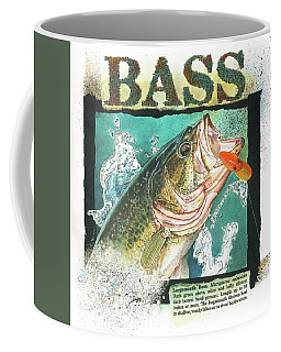 Coffee Mug featuring the painting Bass by John Dyess
