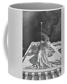 Coffee Mug featuring the photograph Bass Performance Hall Angel by Guy Whiteley