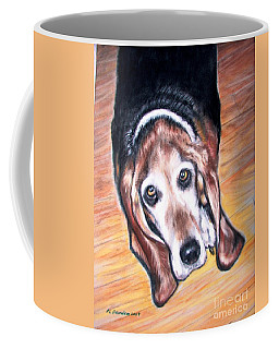 Coffee Mug featuring the painting Basset Hound  by Patricia L Davidson