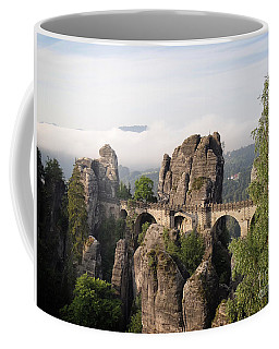 Bastei Bridge In Saxon Switzerland Coffee Mug