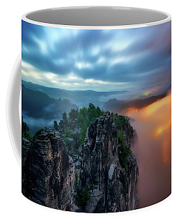 Bastei Bridge Night View, Saxon Switzerland, Germany Coffee Mug