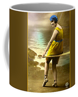 Bathing Beauty In Yellow  Bathing Suit Coffee Mug