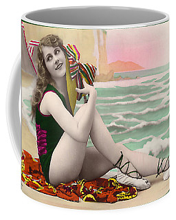 Bathing Beauty On The Shore Bathing Suit Coffee Mug