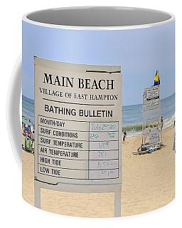 Bathing Bulletin Coffee Mug