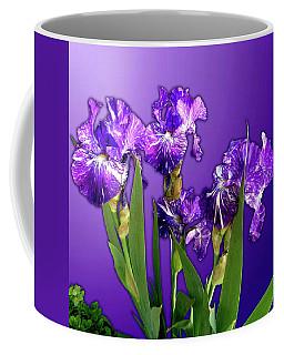 Batik Irises Coffee Mug