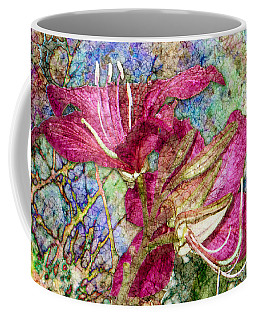 Batik Lilies Coffee Mug