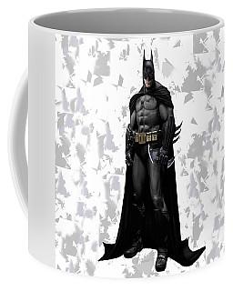 Coffee Mug featuring the mixed media Batman Splash Super Hero Series by Movie Poster Prints