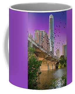 Bats Over Austin Coffee Mug by Juli Scalzi