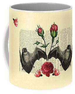 Bats With Angelic Roses Coffee Mug