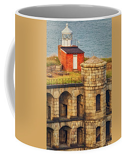 Coffee Mug featuring the photograph Battery Weed At Fort Wadsworth Nyc by Susan Candelario