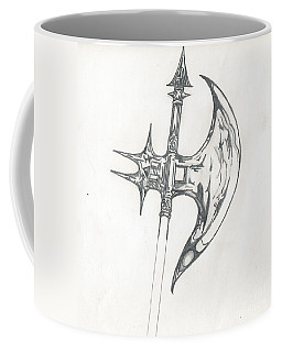 Coffee Mug featuring the drawing Battle Axe by Reed Novotny